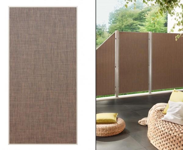 """Sichtschutzwand """"Weave Lüx"""", Textil Bespannung 178 x 88cm, bronze"""
