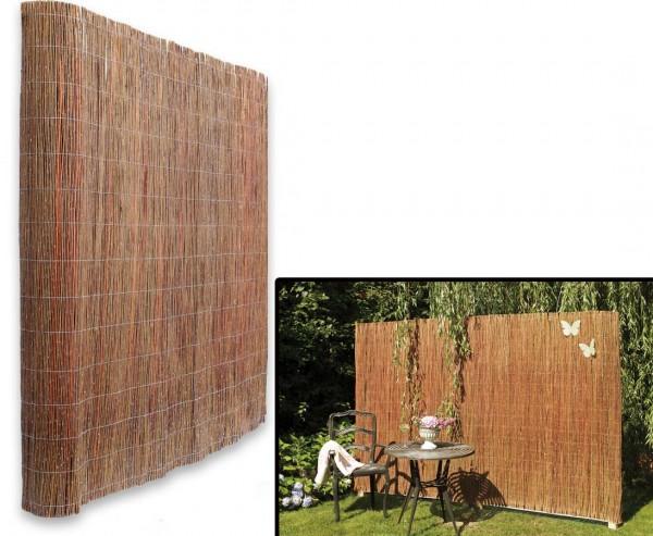 Weidenmatte 180 x 300 cm Weidenzaun Sichtschutz Windschutz EKO Weide Balkon Zaun