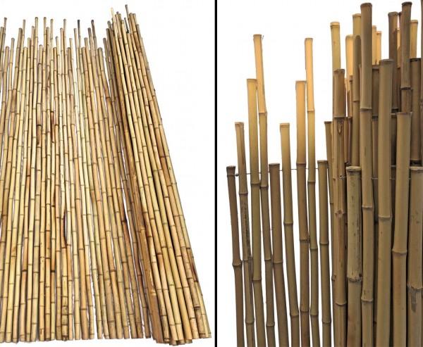 Stockaden Rollzaun gebleicht mit ca. 180x210cm, Durch. 2,5 bis 3cm B-Ware