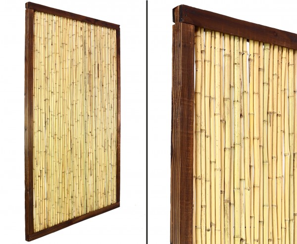 "Bambuselement ""KohSamui Klassik"" 180 x 120cm, dunkler Rahmen"