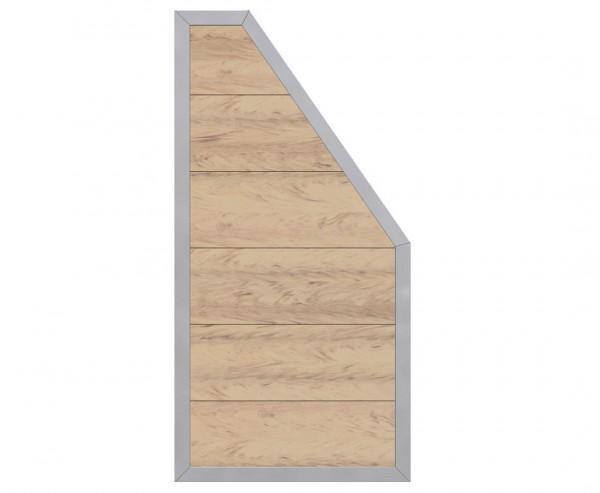 An- und Abschluss Element für Sichtschutz WPC Alu, sandfarben mit 180/90x90cm