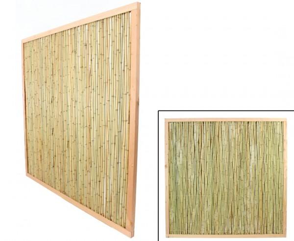 """Bambuszäune mit 180x180cm im Holzrahmen hell, """"KohSamui"""" Premium Produkt"""