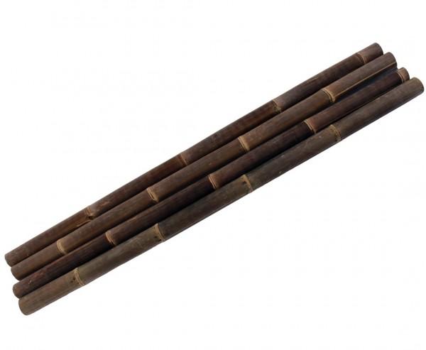 Bambus schwarz 200cm mit Durch. 9 bis 10cm, Wulung Rohr behandelt mir Borsalz