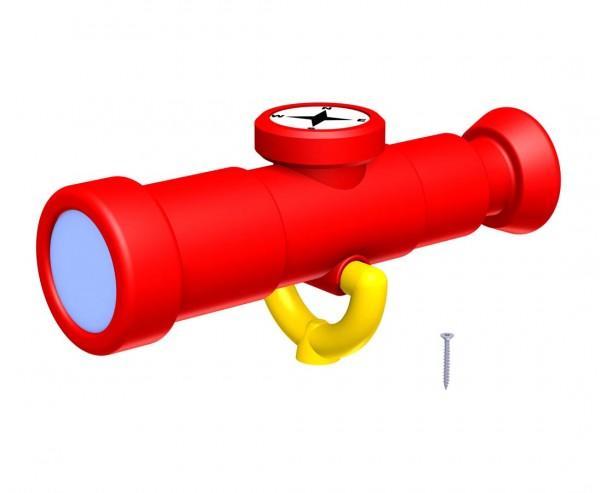 Fernrohr mit Spielkompass rot-gelb für Kletterturm Erweiterung