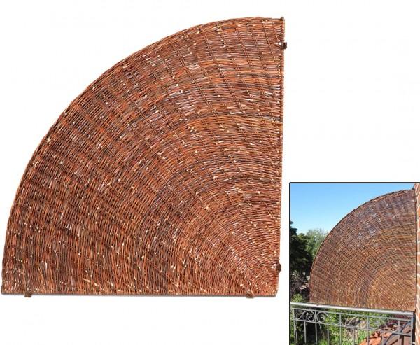Balkonsichtschutz Fächer für seitliche Abtrennung 100 x 100cm
