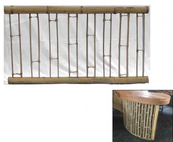 Bambus Zaun Geländer, aufgeschnittene Bambusrohre, 90 x 180cm