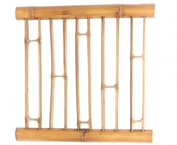 Bambus Zaun Geländer aus aufgeschnittene Bambusrohren mit 90x90cm