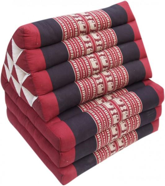 Thaimatte mit 3 Auflagen, rot blaues Farbdesign