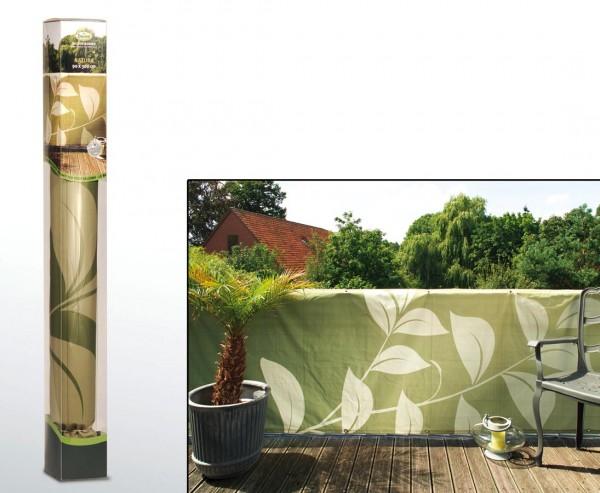 "Balkonsichtschutz mit ""Naturmotiven"" 90 x 300cm"
