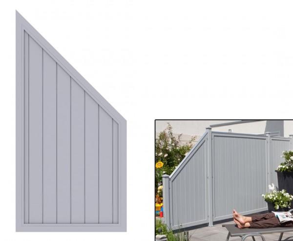 "Zaunelement Abschluss grau, ""Longlife Riva"" 180 x 90 x 90cm aus Kunststoff"
