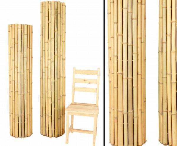 """Bambusmatte Roll Zaun 150 x 200cm Moso Bambusrohre 3,5 - 5cm """"Bali Big"""""""