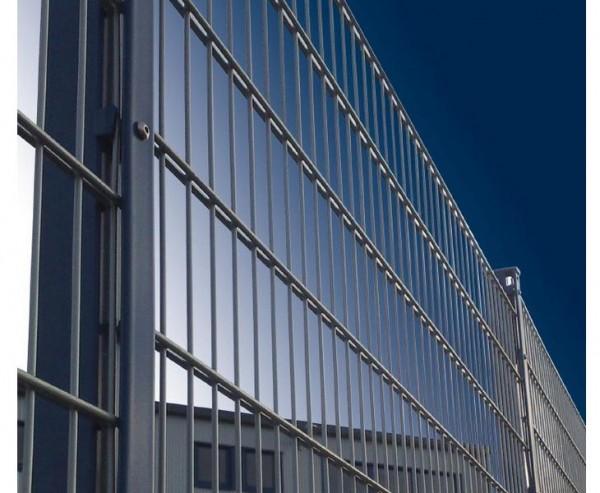 Doppelstabmatten für Sichtschutz fvz./anthr. mit 100x250cm, Modell 8/6/8 Masche 50/200