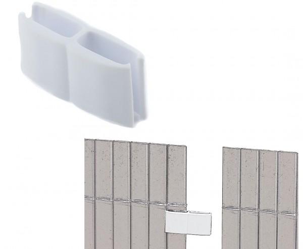 Nahtlose Verbindung für Kunststoffmatten von Videx, weiss, mit 4 Stück pro Beutel