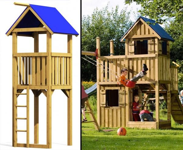 """Spielturm System """"Winnetoo"""", Starterset Kletterturm Basis mit 350x113x113cm"""