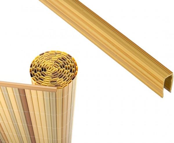 U- Profil für Kunststoffmatten, bambus farbig, Länge 150cm