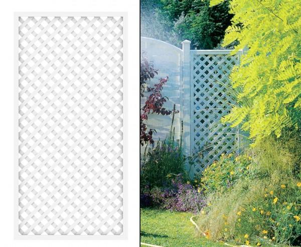 "Rankgitter, ""Longlife"" weiß, 180 x 90cm aus Kunststoff"