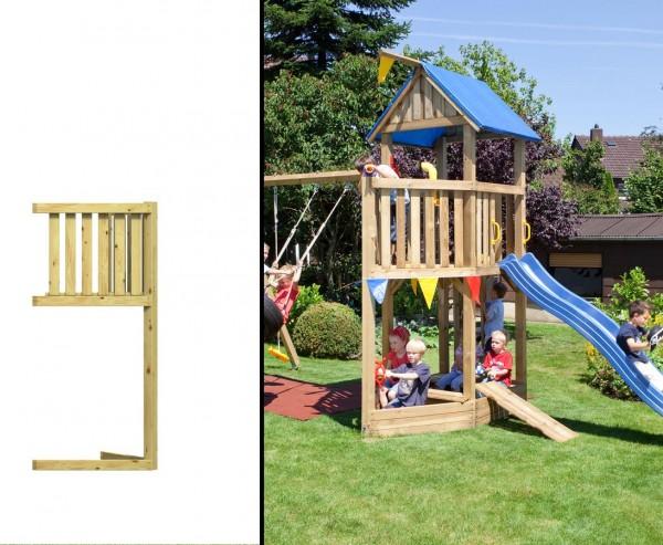 Piratenschiffbug für Basis Spieltürme, Holz Bausatz 86x113x231cm
