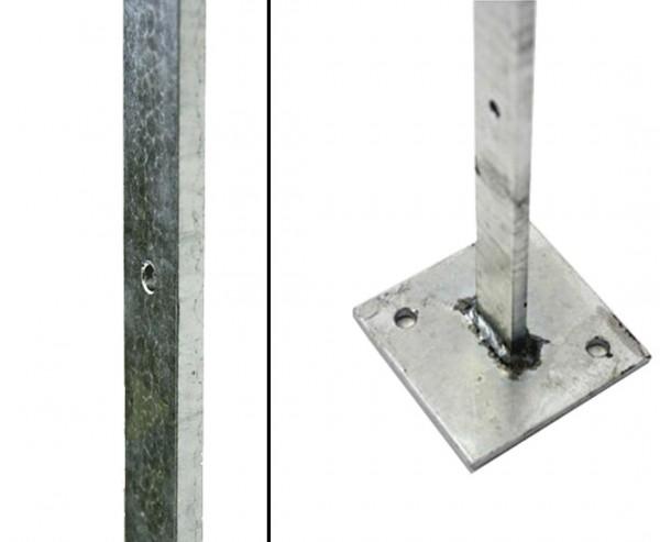 """Pfosten für Montagegitter """"Barcelona"""" zum Aufschrauben, Höhe 155cm"""