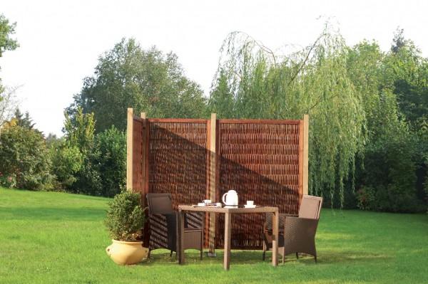 Sichtschutzelement aus Weide, Cornwell mit 180 x 90cm, blickdicht naturbelassen.