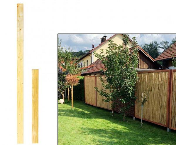 Holz Zaunpfosten Natur mit 9 x 9 x 195cm