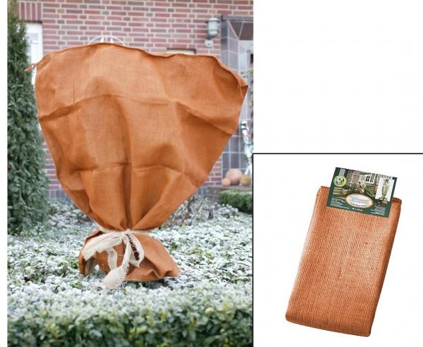 Jutesack für den Winterschutz von Rosen, terrakotta farbig, Höhe 110cm x Breite 100cm