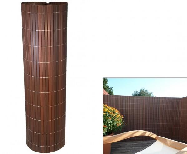 """Zaun Sichtschutz, """"Sylt"""" mit 180 x 200cm, nussbaum"""