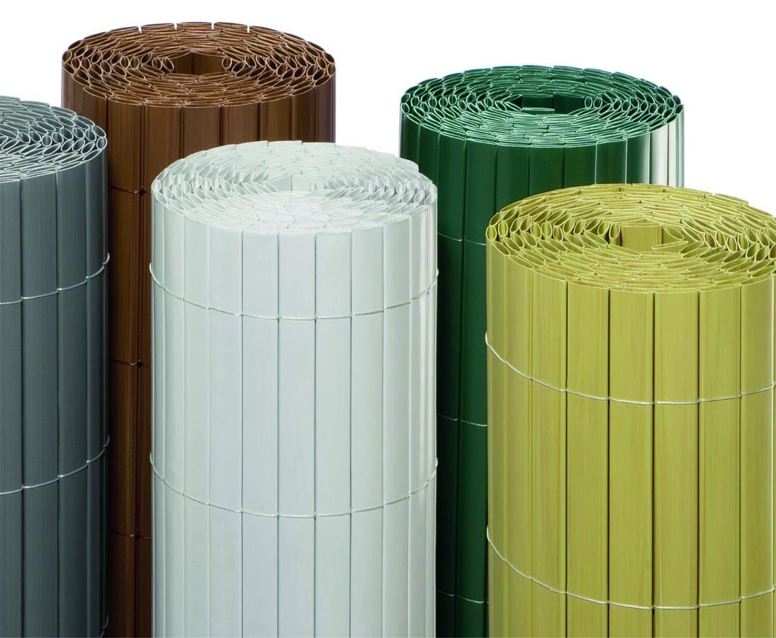 Zaun Mit Kunststoffmatten Weiss 180x300cm Verkleiden