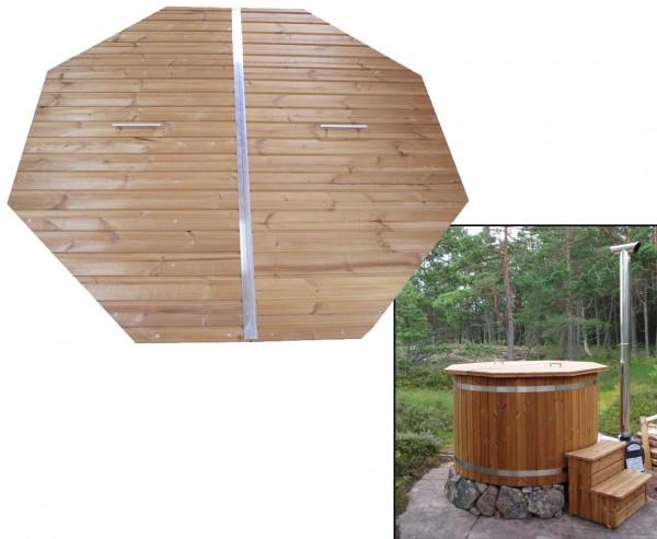 Hottub Holzdeckel mit einem ca. Durch. 180cm