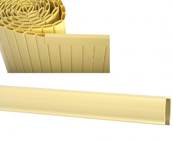 Kunststoffmatten U-Profil, Länge 150cm, für Sylt und Rügen, pastellgelb