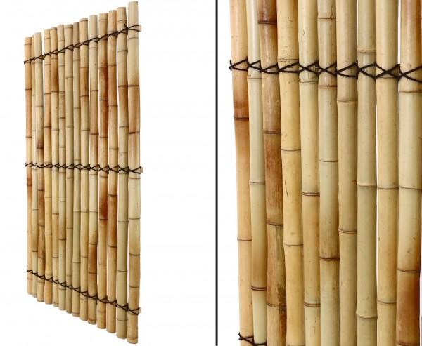 """Bambuselement """"Apas15"""" 180 x 90cm aus gelblichen halben Bambusrohren"""