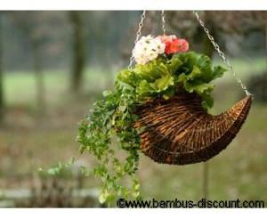 Hängeampeln aus Weide von bambus-discount.com