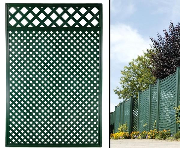 """Sichtschutz Coventry """"Diamant"""", mit Zierabschluss, 185 x 125cm, grün"""
