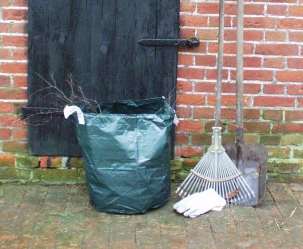 Laubsäcke für Gartenabfälle, aus PE Material grün, Höhe 50cm und einen Durch. von 45cm
