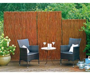 Bambus Sichtschutz und Sitzecke