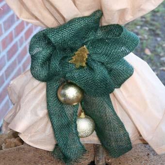 Dekoband grün, 18 x 1.000cm, zum verschnürren und dekorieren