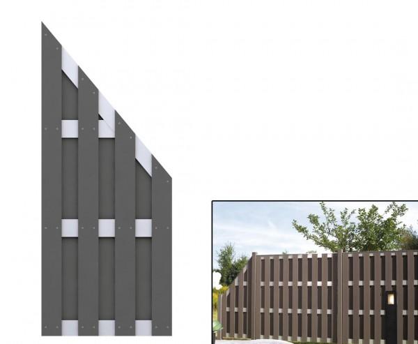 Abschluss Zaunelement, kreativer Zaunbau 179/90x74cm