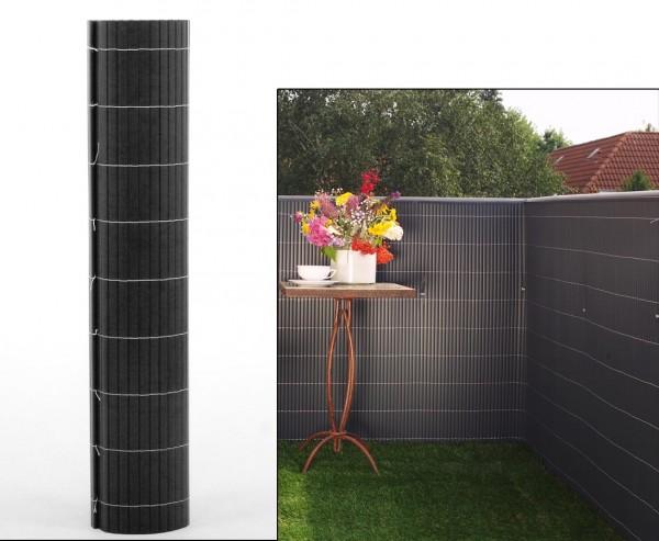 """Balkon Sichtschutz """"Sylt"""" mit 100 x 300cm, anthrazit farbig"""