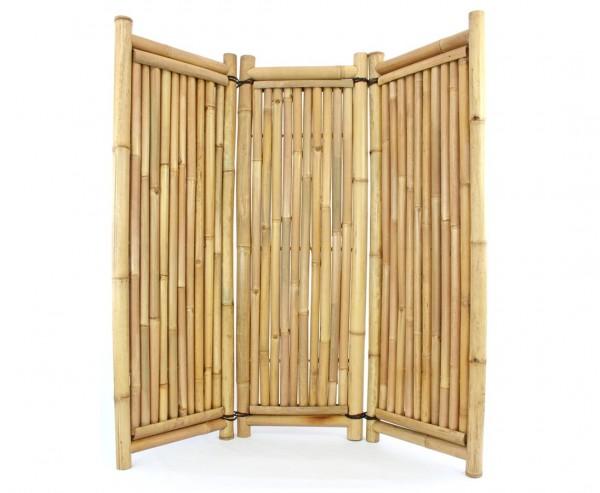 Raumteiler aus Bambus 3teilig 180x180cm mit Petung Rohre 4 bis 7cm
