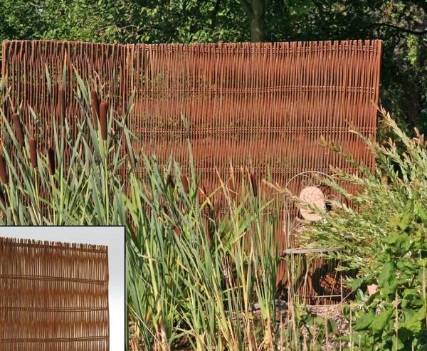 """Sichtschutz Weide natur """"Skandinavien"""", mit Höhe 180cm x Breite 120cm"""
