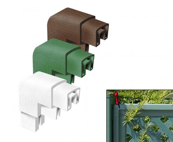 Eckverbinder für Rahmenprofil Coventry grün, 15 x 5cm