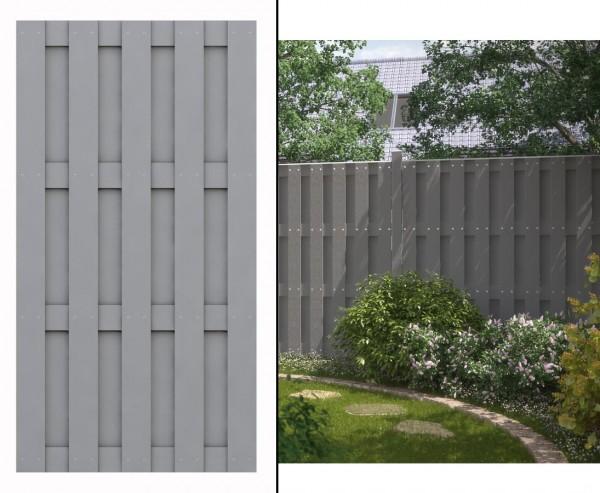 WPC Gartenzaun, blickdicht 179x95cm