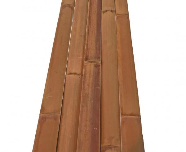 Bambusrohr Latten Moso karamell 200cm, rot braun gedämpft, Breite ca. 4cm