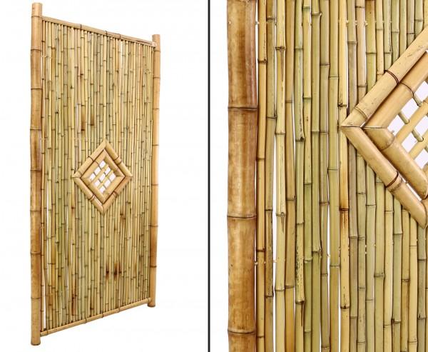 """Bambuszaun hochwertig """" TEN New Line3"""" 180 x 90cm mit Fenster"""