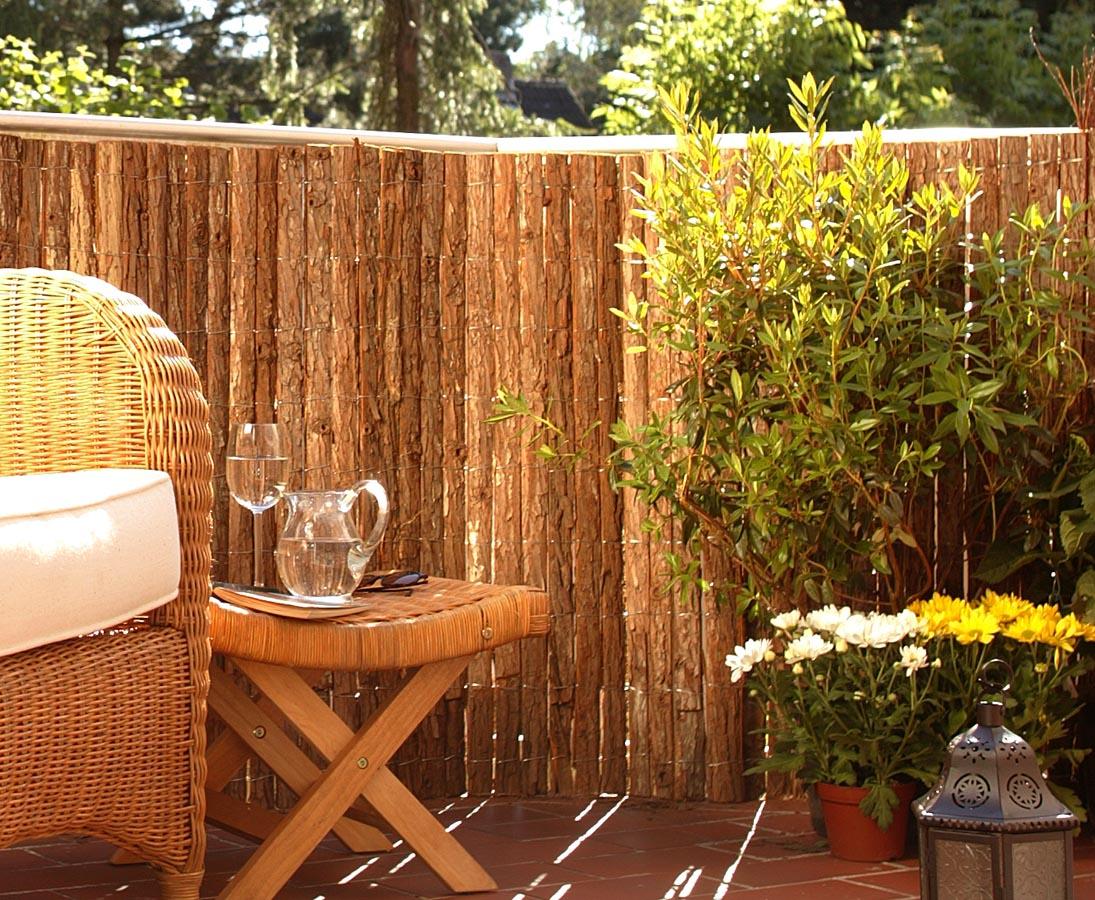 Rindenmatten Balkon Sichtschutz 90x300cm Gunstig Kaufen