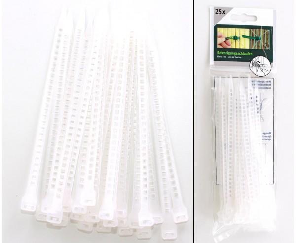 Befestigungsschlaufen transparent, 25 Stück