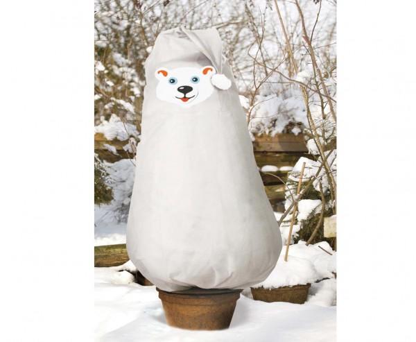 """Pflanzen winterhart machen mit dem Eisbär Set """"Kuddel"""", weiß, Abmessungen ca. 110 x 90cm"""