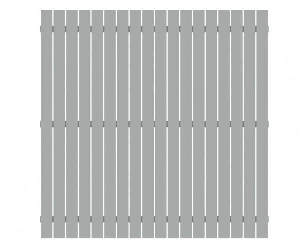 Sichtschutzzaun aus Aluminium 180x180cm, lichtgrau beschichtet