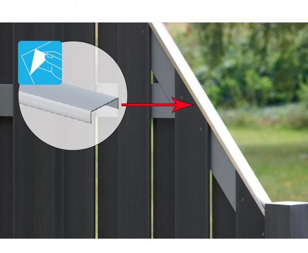 Sichtschutzwand Aufsatzleiste, Aluminium