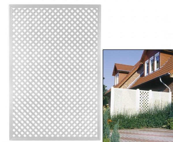 """Terrassen Sichtschutz Coventry """"Diamant"""", 185 x 125cm, weiss"""