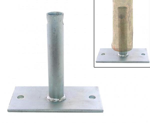 Bodenplatten für Haselnusszaun Montage